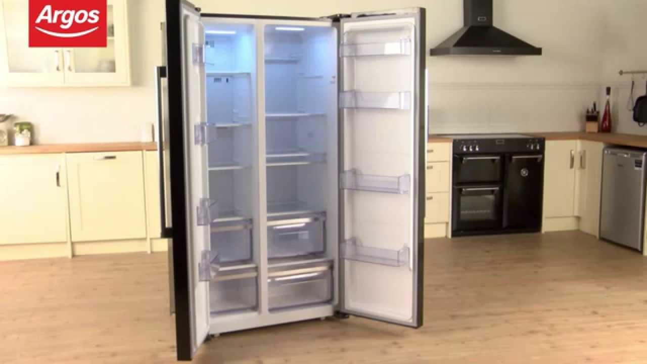 American Side By Side Fridge Freezer Part - 31: Bush BSBSFFB American Frost Free Fridge Freezer In Black Review