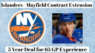 NY Islanders Mayfield Contract Discussion