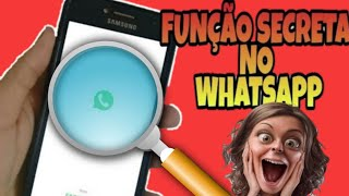FUNÇÃO SECRETA!!! saiba com quem você ou outra PESSOA mais CONVERSA no WHATSAPP