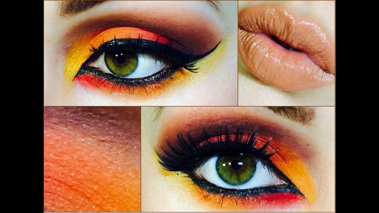 color amarillo y rojo ojos