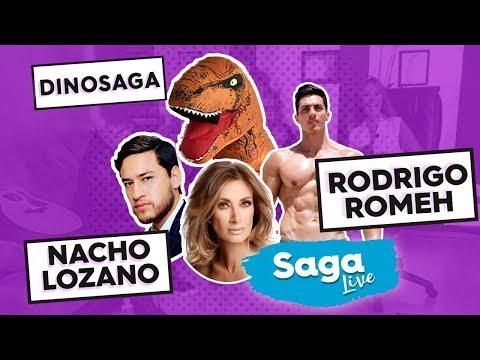 #Saga Live el periodista Nacho Lozano y el atleta fitness, Rodrigo Romeh con Adela Micha