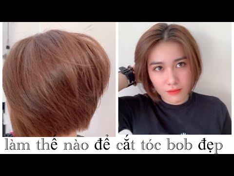 làm thế nào để cắt kiểu tóc bob đẹp,hùng đông tinh hair