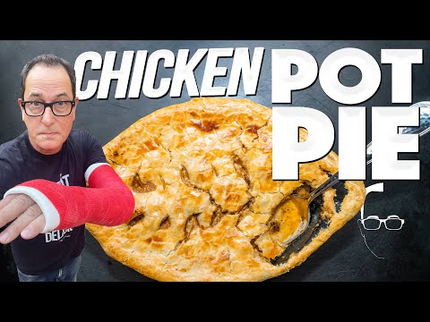 CHICKEN POT PIE THAT'S SO EASY YOU ONLY NEED ONE ARM TO MAKE IT! | SAM THE COOKING GUY