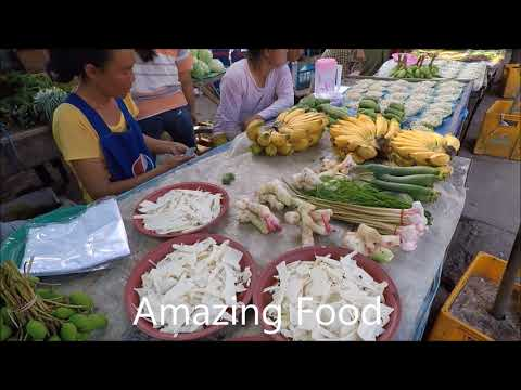 Laos , Naboo Market - Local food in Laos 2018