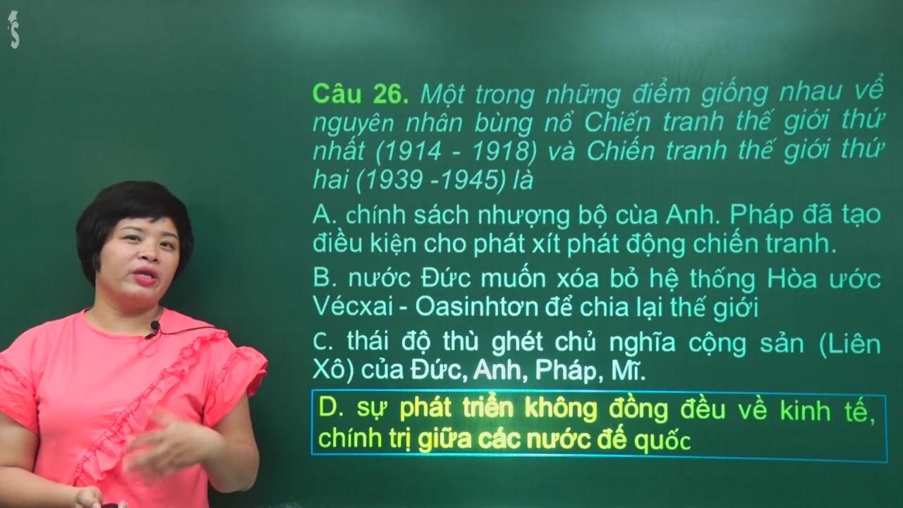 Đề thi thử THPT Quốc gia môn Lịch sử – Cô Lê Thu – Tuyensinh247.com