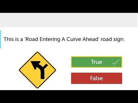2019 California Road Signs Practice Test (True-False ...