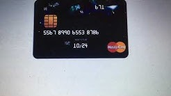 My MasterCard credit card info (it has $2348 on it)