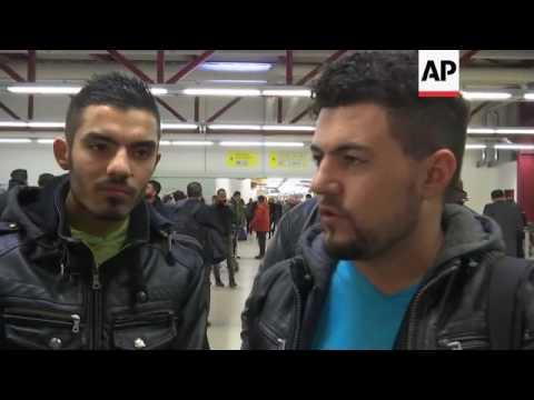 Refugees/Migrants-Germany/France/UK/Denmark/Greece/Macedonia/Turkey-Protest by anti-Islamic group Pe