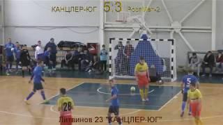 """Футбол """"КАНЦЛЕР-ЮГ"""" 6:3 """"РостМет-2"""" - Голы"""