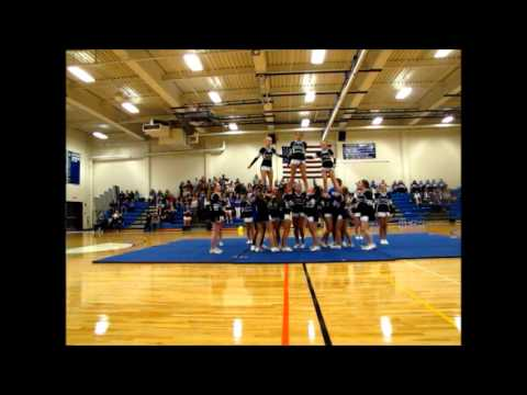 Drury High School Cheer Team Pep Rally Routine Sept 2015