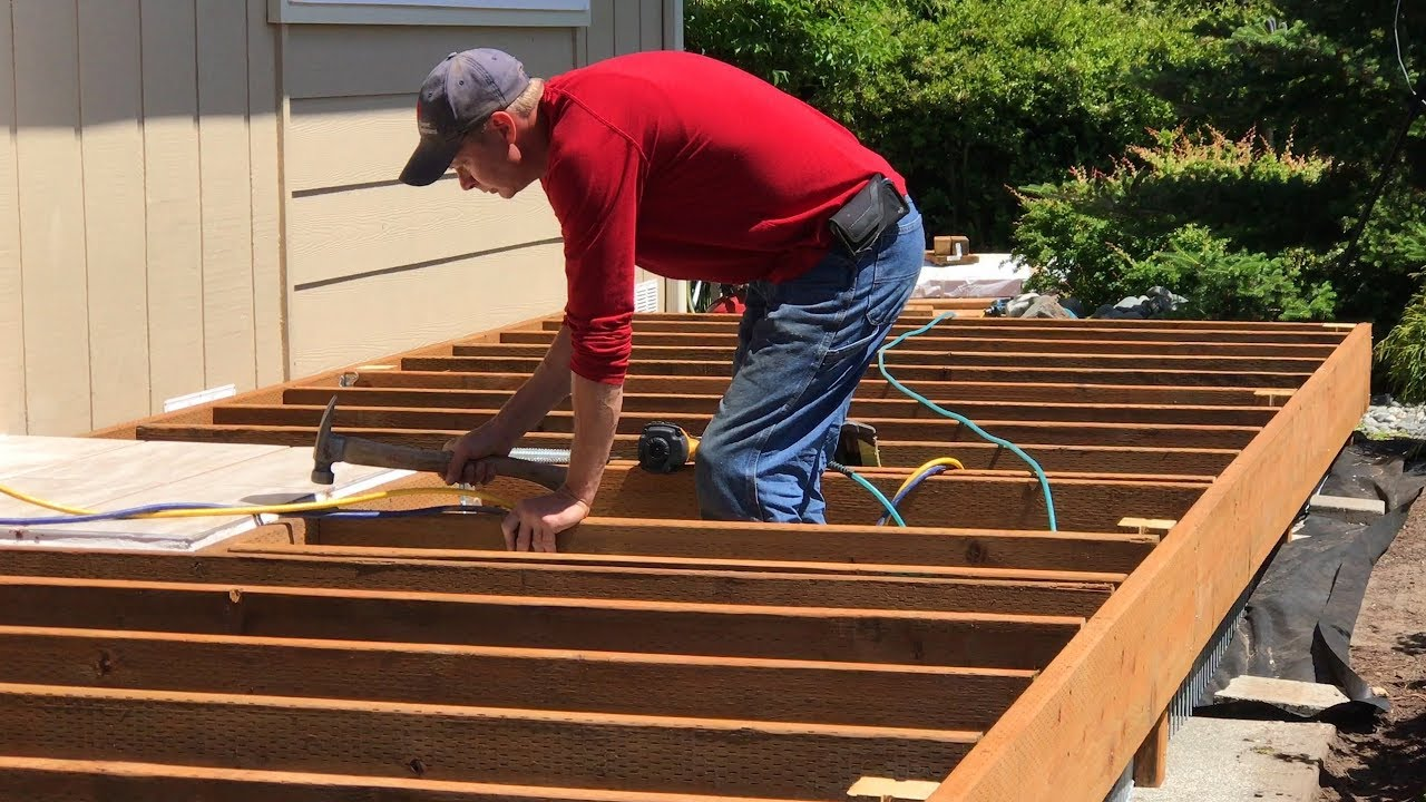 Installing Joists For Composite Decking