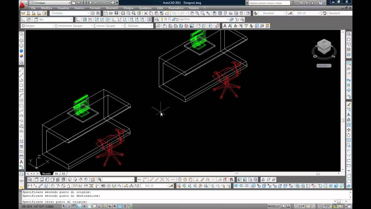 Disegno cad autocad youtube for Disegno 3d free