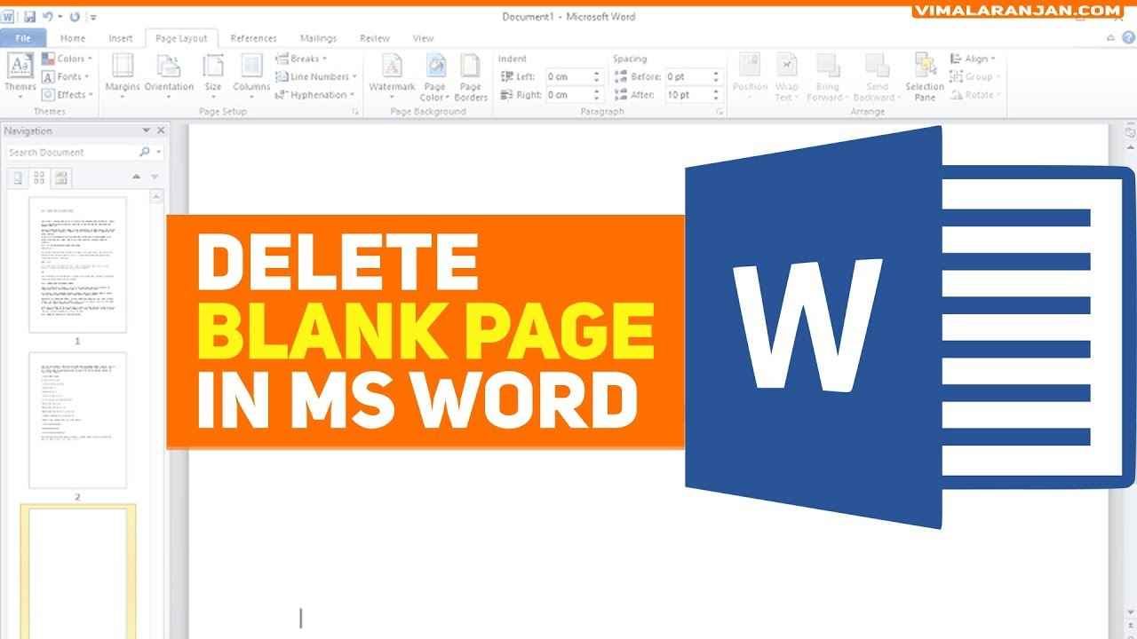 how to get rid of empty page in word