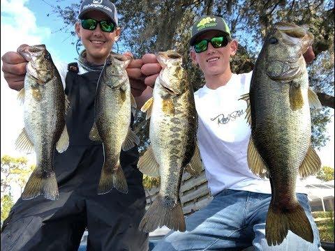 Bass Fishing Jiggs Landing Florida (winter Time) #37