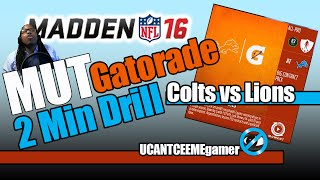 Madden 16 - Gatorade 2 Minute Drill - Weekly Challenge 1 - 2012 Colts Vs Lions