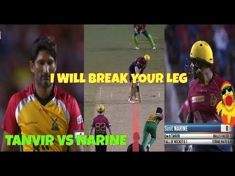 Sohail Tanvir vs Sunil Narine - Leg Breaking Yorker From Tanvir In CPL 2017 - Eliminator TKR VS GAW