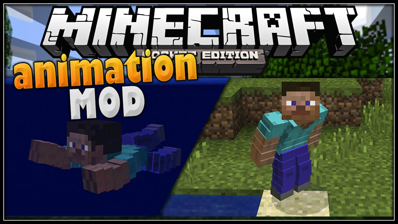 Animation mod minecraft pe