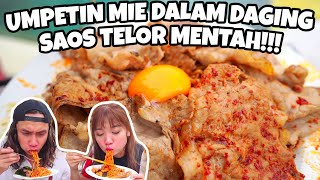 GILA! MIE MALAYSIA DARI NERAKA+DAGING+TELOR MENTAH! Lebih pedas dari SAMYANG GABOONG! #spicyfood