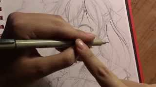 How to do stuff! Part 1: How to Ink manga drawings with your wrist!