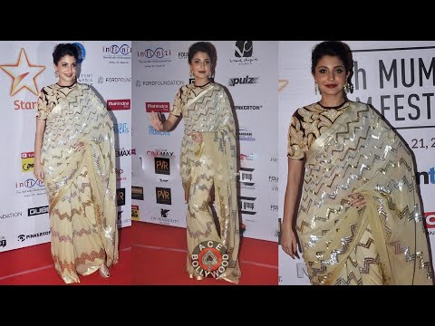 Beautiful Anushka Sharma in Saree at MAMI Festival