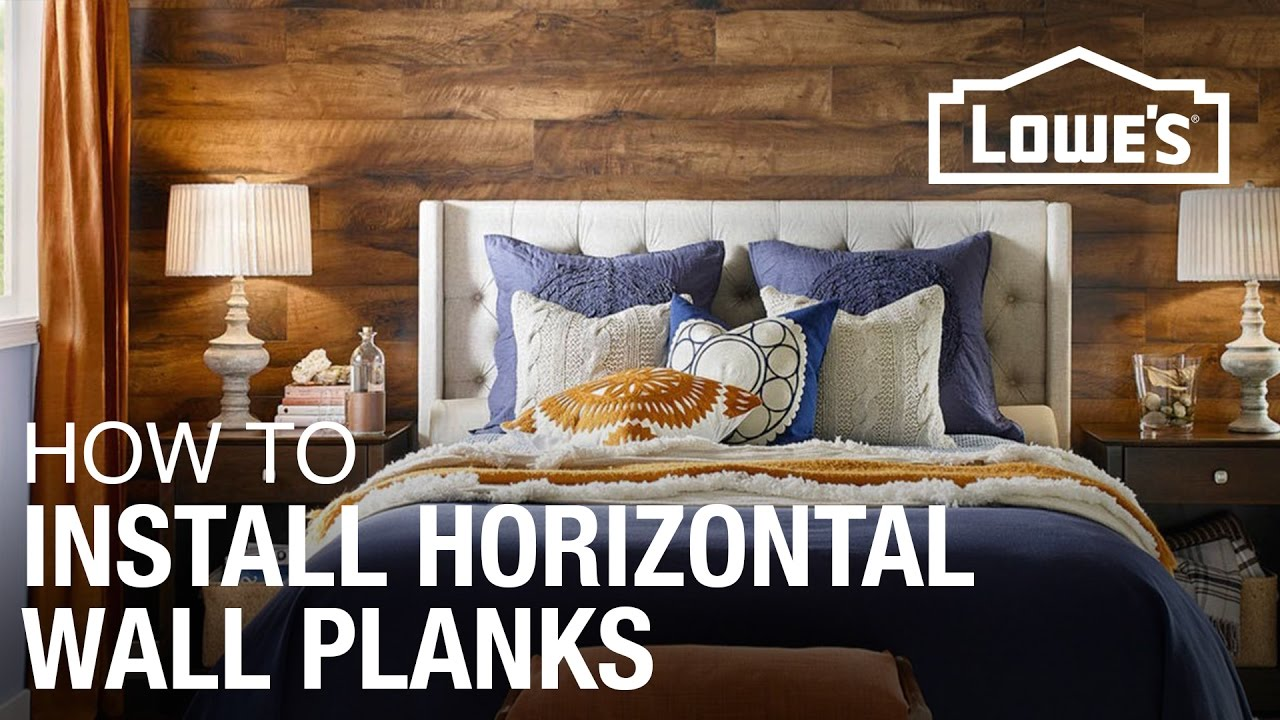 How To Install Laminate Planks Horizontally On A Wall Youtube