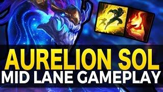 AURELION SOL MID GAMEPLAY - League of Legends