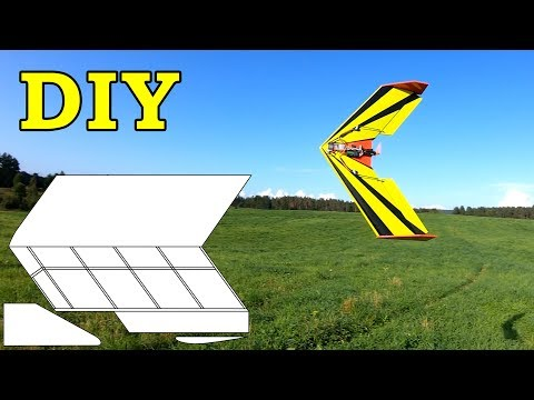 How to make Flying Wing RC plane DIY