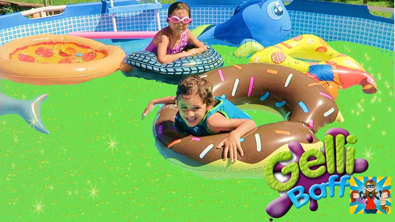 Squishy Gelli Baff Super Gross Pool !!! Me and My kids - YouTube