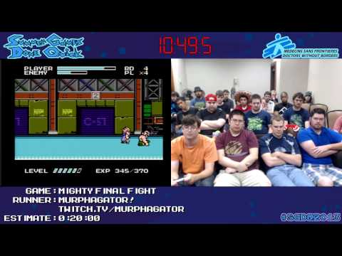 Mighty Final Fight :: SPEED RUN in 0:17:29 by Murphagator! #SGDQ 2013 [NES]