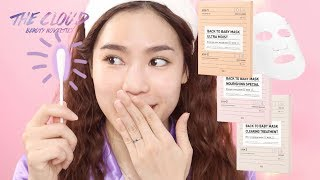 3CE BACK TO BABY MASK REVIEW | Test & Demo | Dùng thử mặt nạ 3CE