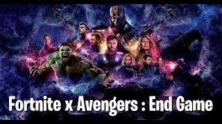 fortnite x avengers end game trailer - fortnite and avengers trailer
