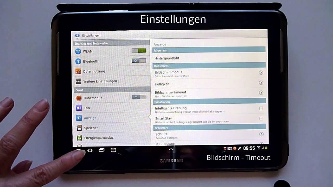 tablet einstellungen