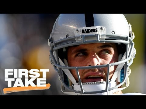 Stephen A. Smith Takes Issue With Raiders QB Derek Carr's Comments | First Take | April 18, 2017