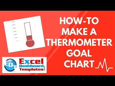 HowTo Make A Thermometer Goal Chart In Excel  Youtube