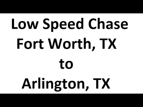 Low Speed Chase on CBSDFW in Texas (Fort Worth to Arlington)