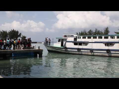 free footage video - Dermaga Pulau  Tidung  Indonesia