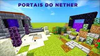 Minecraft: Dicas de Construção - 6: PORTAIS DO NETHER