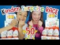 EASTER EGG CHALLENGE! Kinder Surprise Eggs RACE! Kids DESTROY 50 EASTER EGGS!!! ✳ TottyChoCho