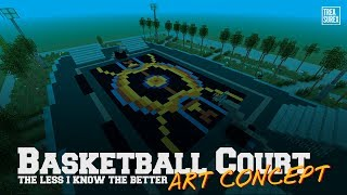 Minecraft PS4 | Basketball Court (Art Concept