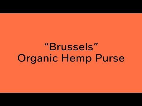 "Vegan Organic Hemp Purse ""Brussels"" By Rawganique"