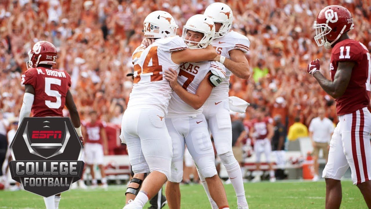 No 19 Texas Beats No 7 Oklahoma On Last Minute Field Goal Cfb Highlights Youtube