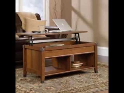 Sauder Carson Forge Lift Top Coffee Table Review   YouTube