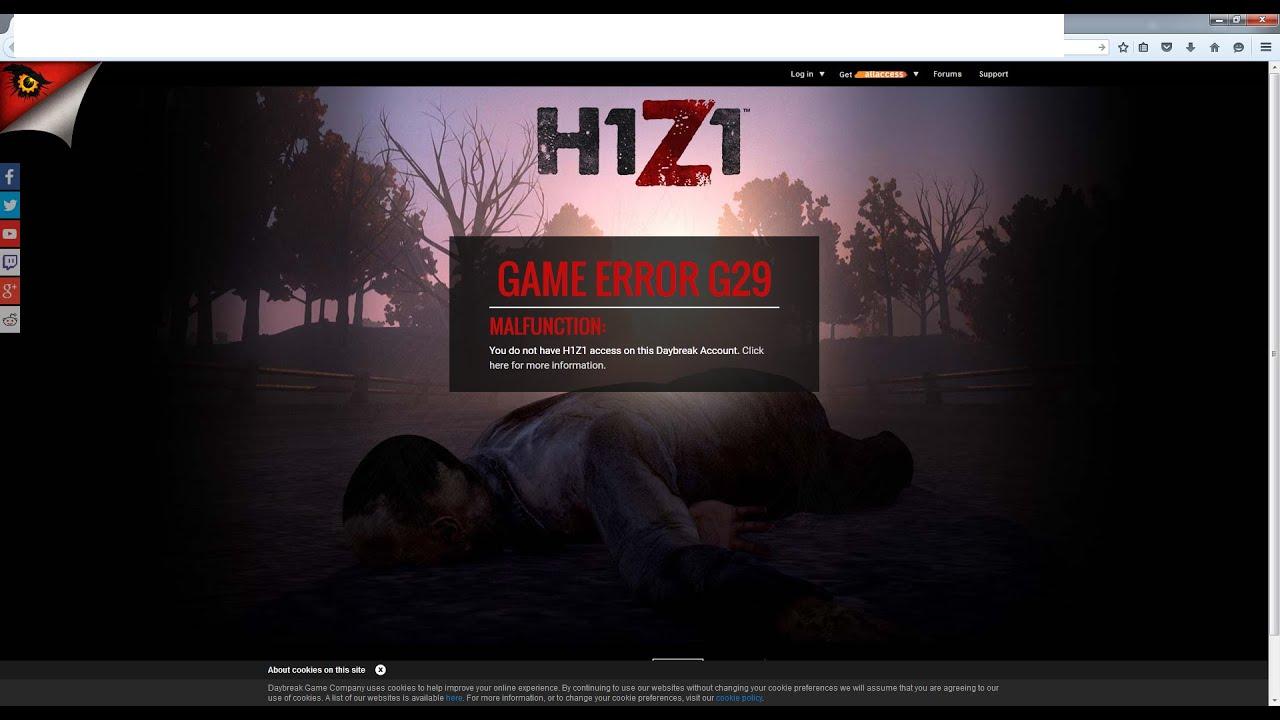 Game Error G29 H1Z1 Fix/Lösung German/Deutsch