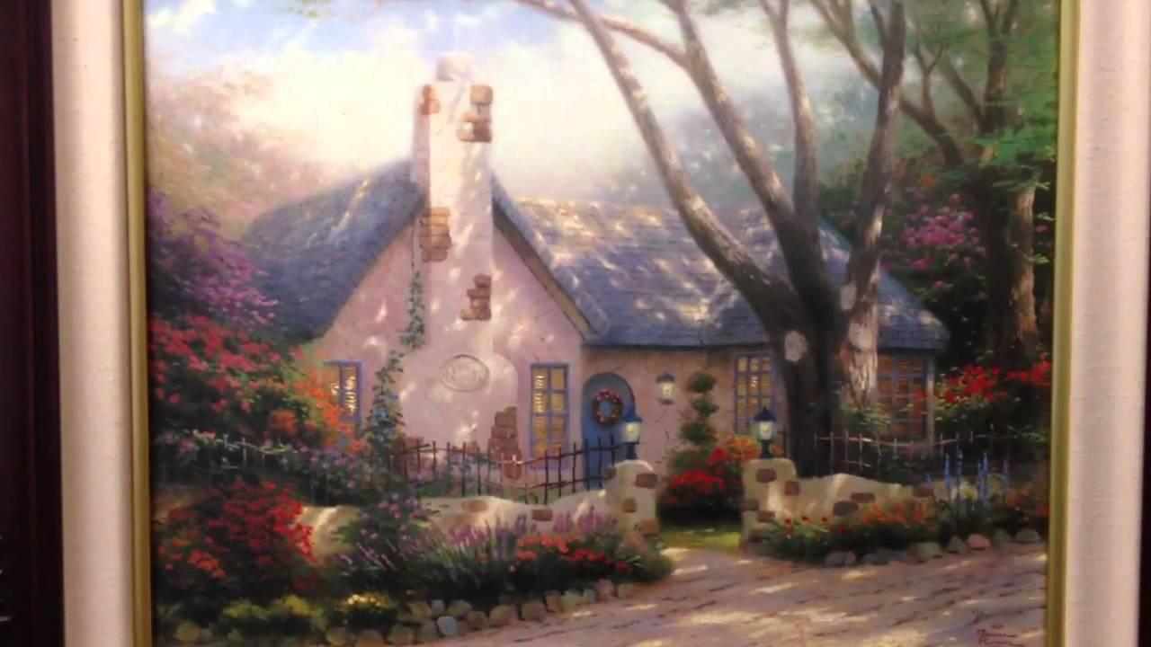 Cars 2 Live Wallpaper Thomas Kinkade Painting Morning Glory Cottage Thomas