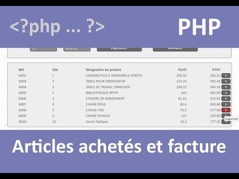 Gestion Des Articles Sur Facturation Php