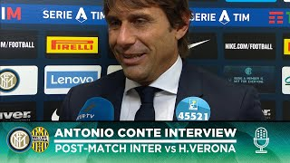 "INTER 2-1 HELLAS VERONA | ANTONIO CONTE EXCLUSIVE INTERVIEW: ""Happy to coach these guys"" [SUB ENG]"