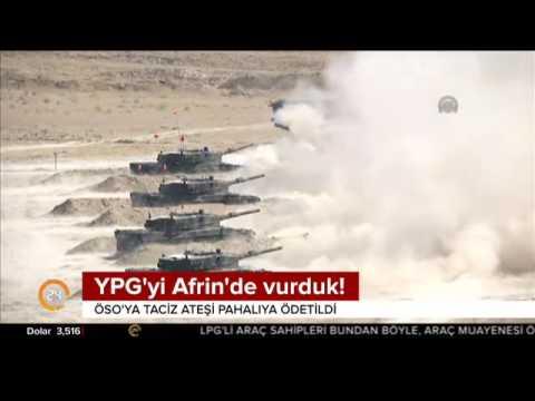 Türkiye YPG'yi Afrin'de vurdu