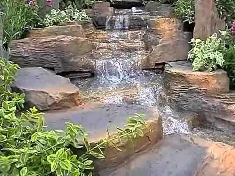 Clgarden wasserfall set wfs1 f r gartenteich doovi - Wasserfall fur gartenteich ...