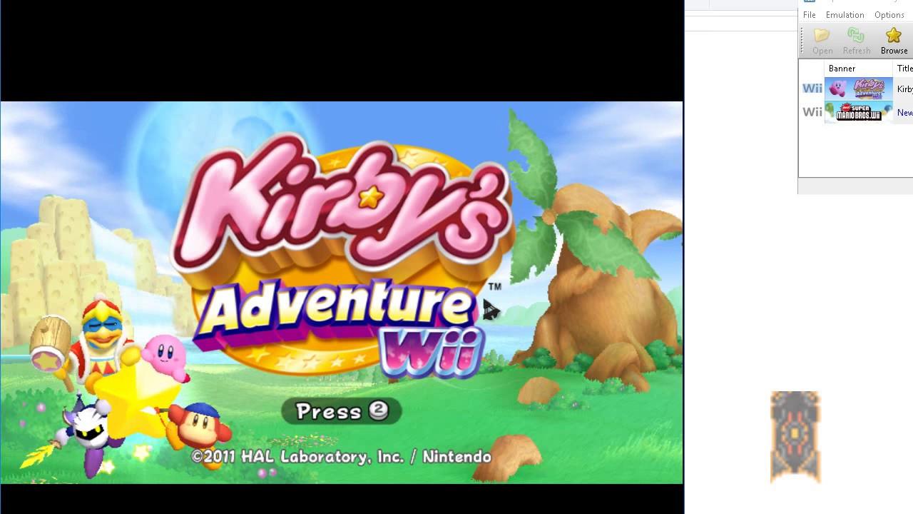 kirbys adventure wii wbfs