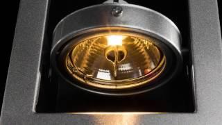 видео встраиваемые поворотные светодиодные светильники